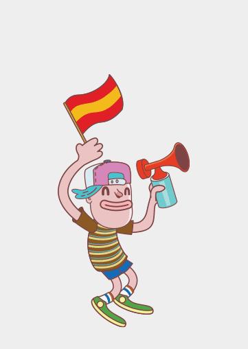 Alehop. Ilustración. España fan