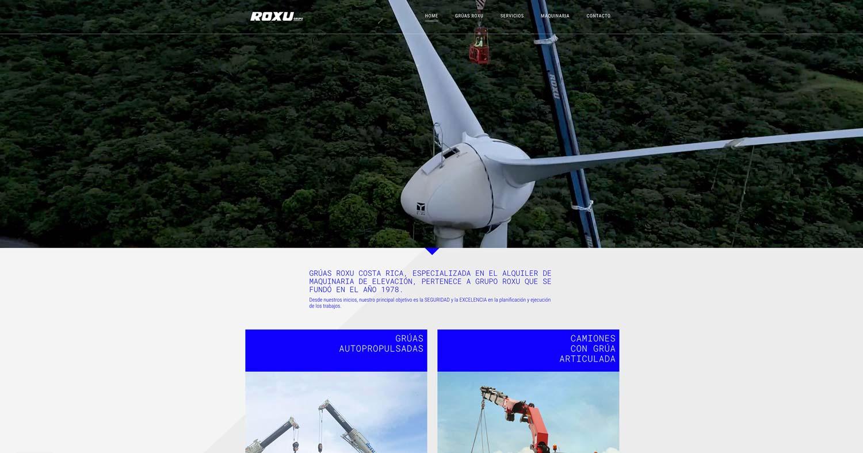 Grupo Roxu. Branding. Diseño web desktop 05