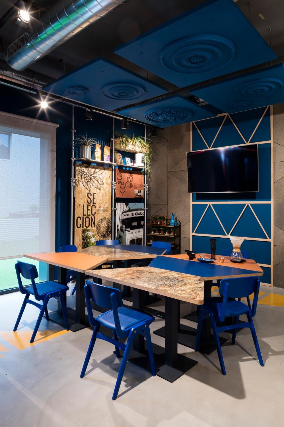Cafés el Globo. Interiorismo. Detalle Tasting Zone