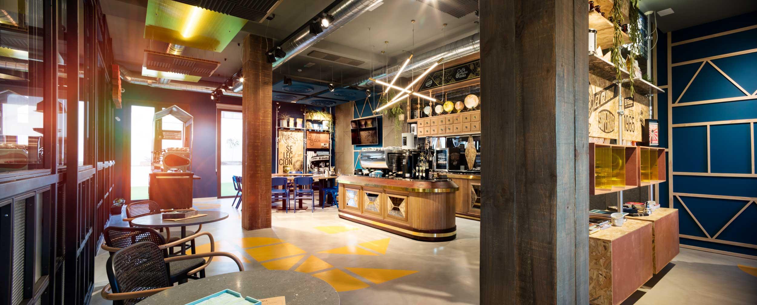 Cafés el Globo. Interiorismo. Tasting Zone