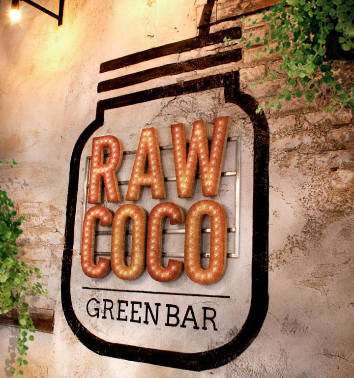 Raw Coco Gijón. Interiorismo. Rotulacion